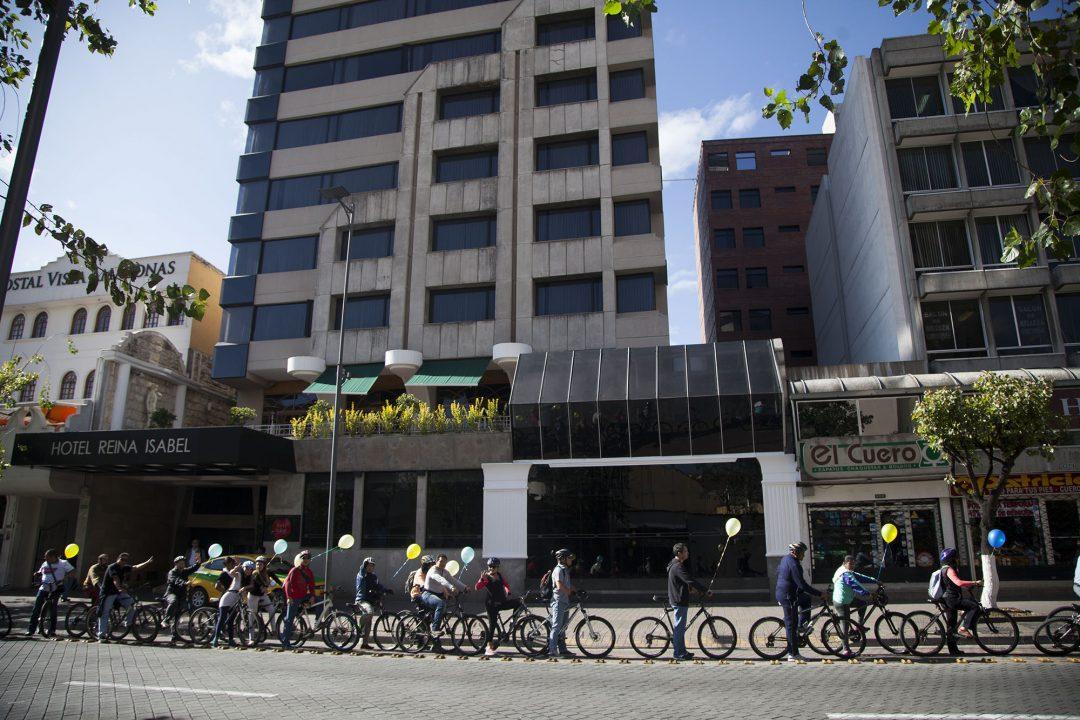 Quito (Ecuador), 15 de mayo de 2015. Edición número 121 de al trabajo en Bici. Luis Astudillo C. / Cancillería Ecuador.