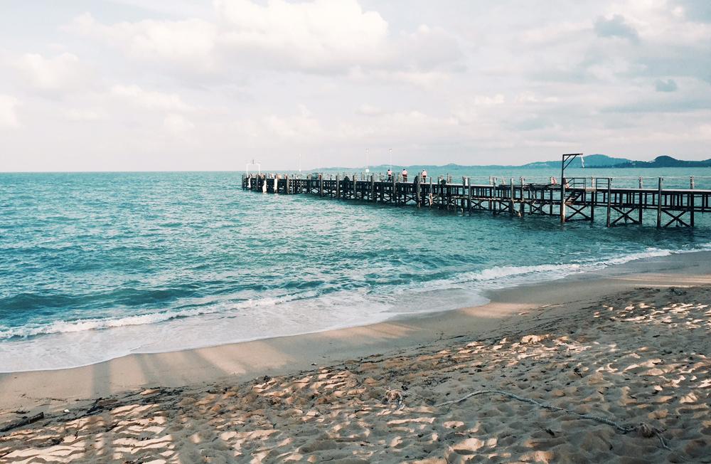 Praia de MaeNam em Koh Samui (foto: Renato Salles)