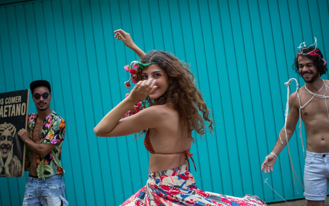 SAO PAULO, BRASIL, 27 JANEIRO 2015; Os organizadores do bloco carnavalesco To Tarado Ni Voce, Raphaella Barcalla, Rodrigo Guima e Thiago Borba. (Fotos: Victor Moriyama/G1)