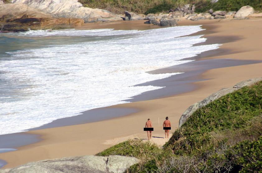 Naturismo no Brasil: Praia do Pinho/SC - Foto por Ricardo Freire