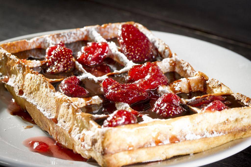 Waffle do L'Auberge (foto: divulgação)