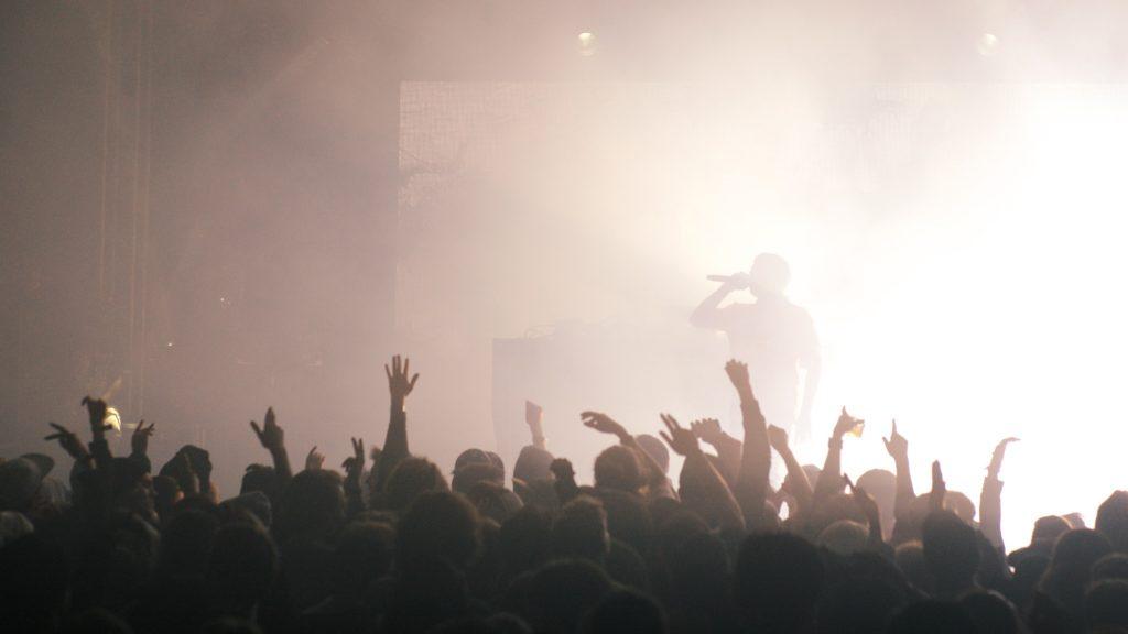 A galera no show do Yung Lean. foto: Ola Persson