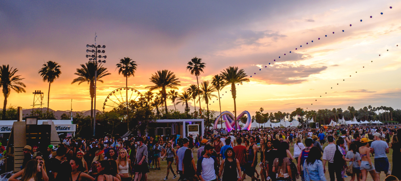 Por do sol no Coachella. Foto: wikipedia