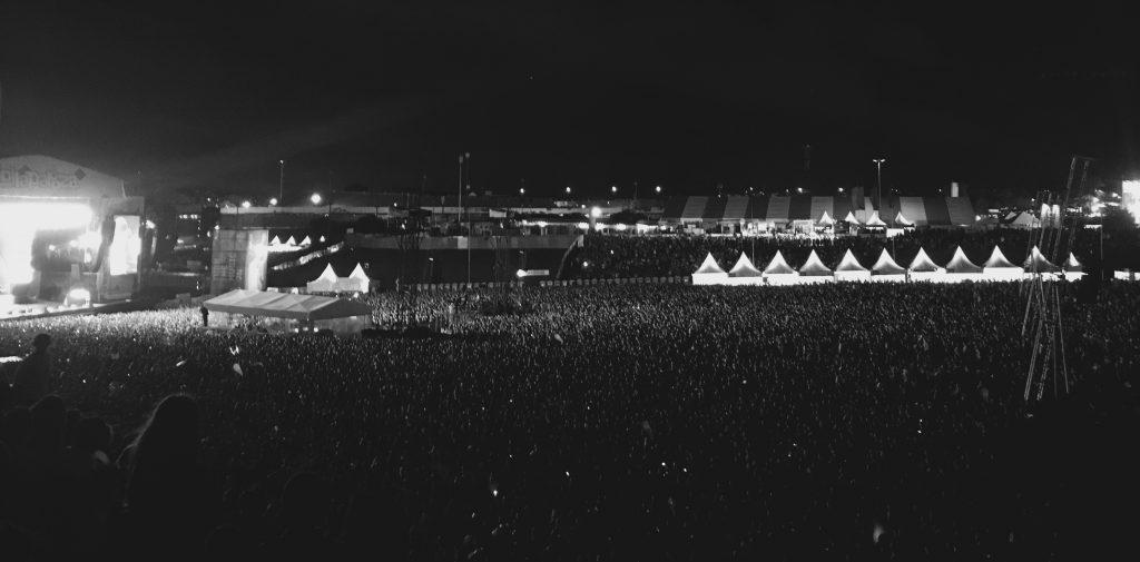 Público no show do Eminem. Foto: Lalai Persson