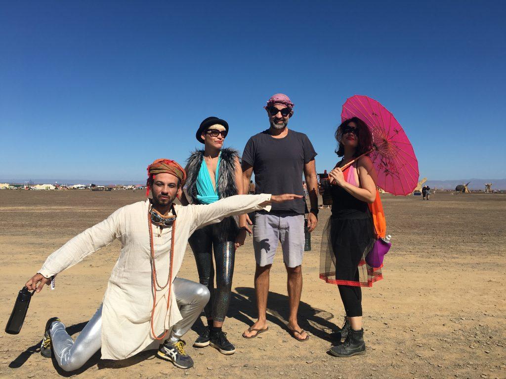 O quarteto fantástico: Nino, eu, Fábio e a Van