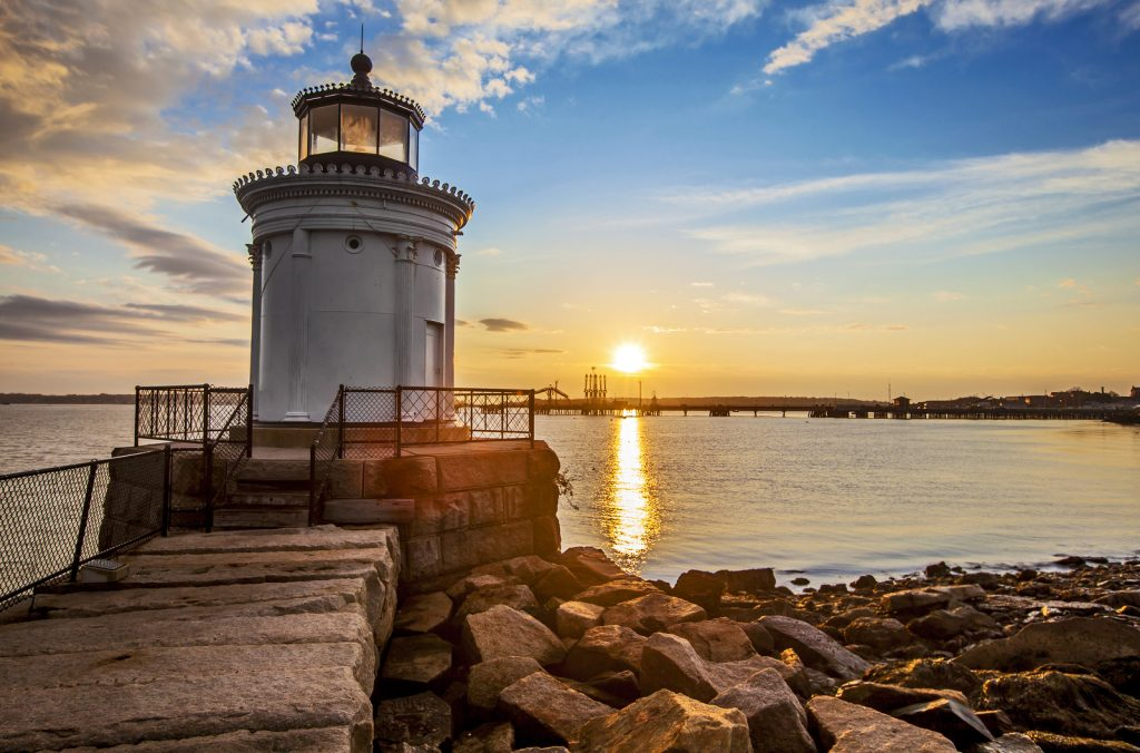 Bug Light Lighthouse in Portland Maine at sunrise. Foto: Stu99
