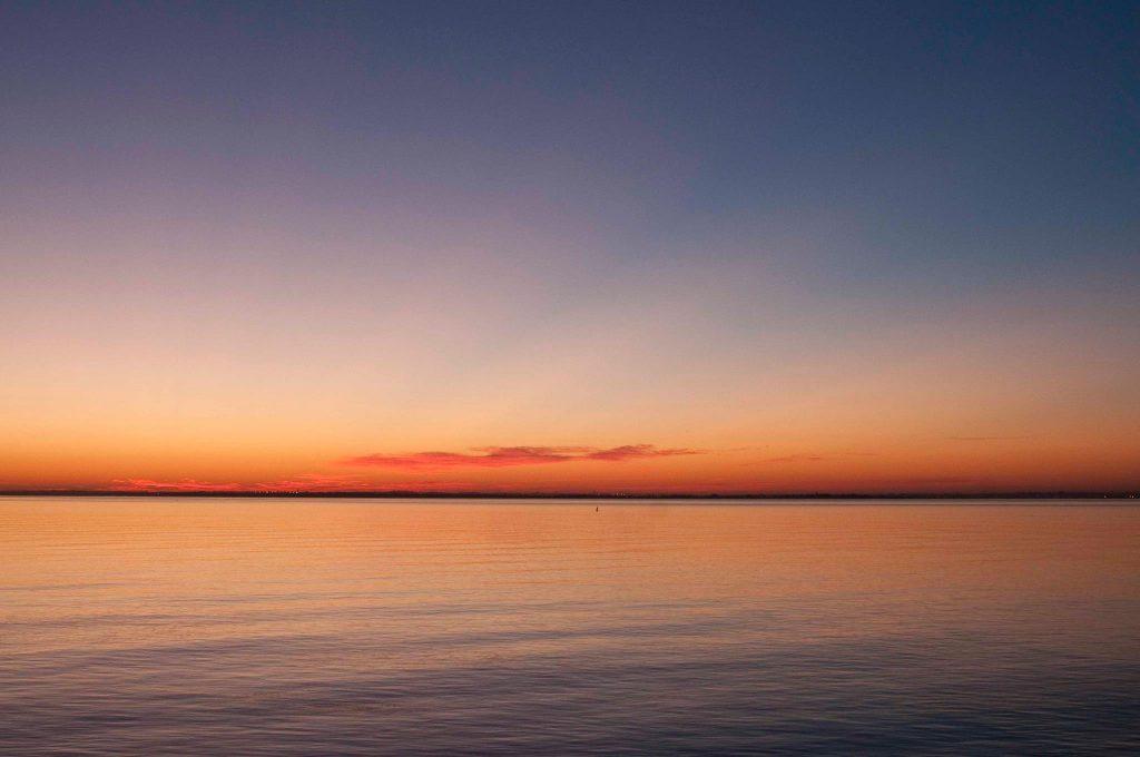 Nascer do sol a partir da varanda do Lux. Foto: Foto: Luisa Ferreira / Facebook Lux