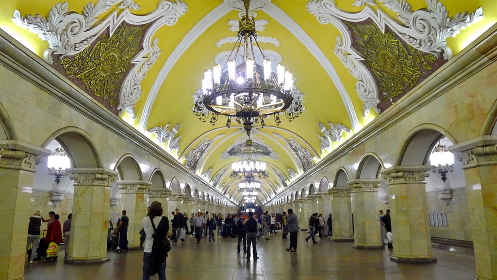 Estação Komsomolskaya (foto: flickr.com/teflon)