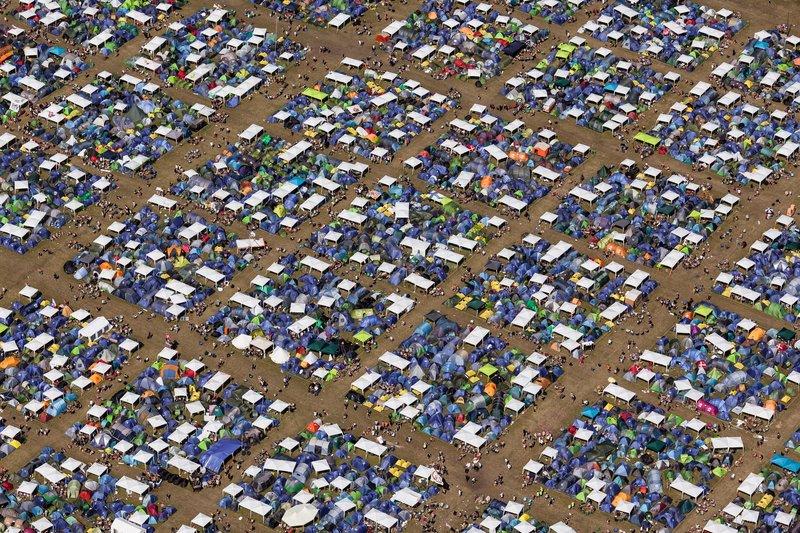 Vista área do camping. Foto: SH Luftfoto / Roskilde Festival
