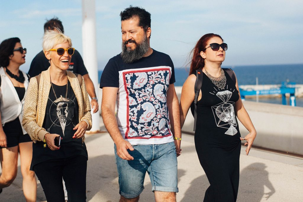 Eu e os amigos indo pro Beach Club. Foto: Ola Persson
