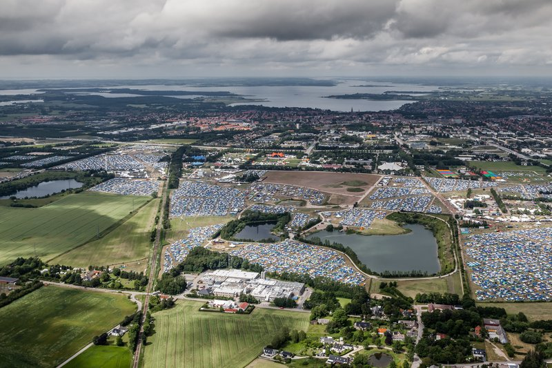 Roskilde Festival Area seen from above 2015