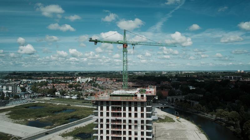 A vista das obras da área norte de Amsterdã. Foto: Lalai Persson