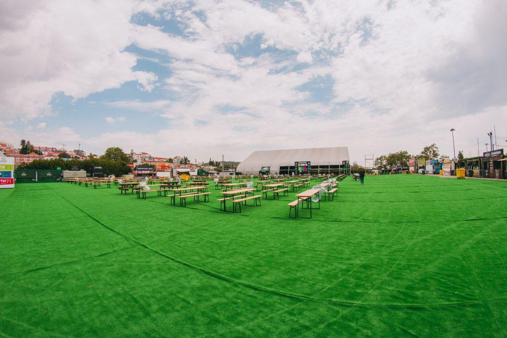 A área de comida do festival. Foto: divulgação