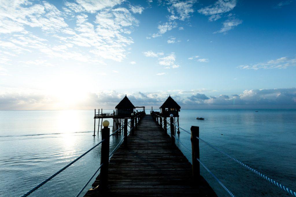 Pier em Zanzibar. Foto: Luigi Dias