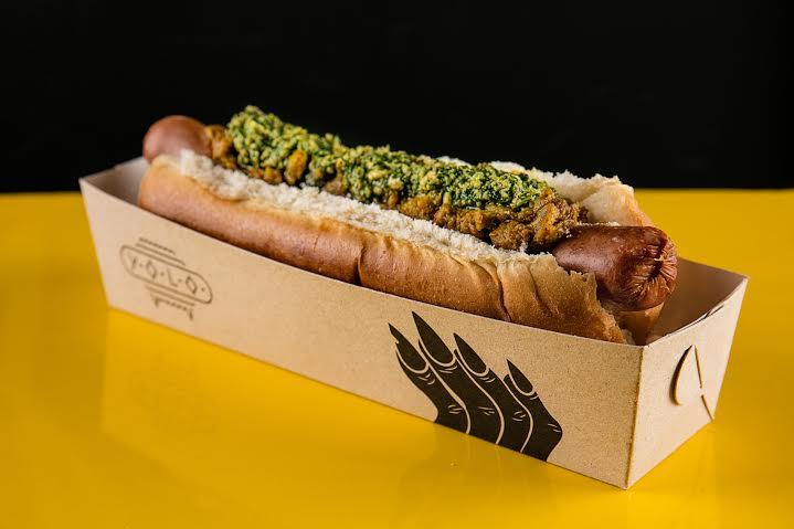 Hot Dog Vegano do Yolo. Foto: Tomás Rangel/Divulgação