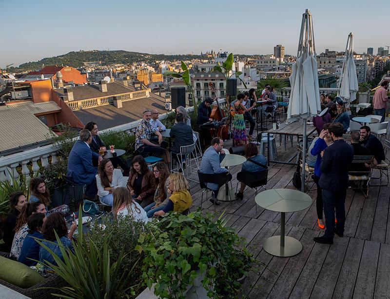 O rooftop do Alma. Foto: Hotel Alma
