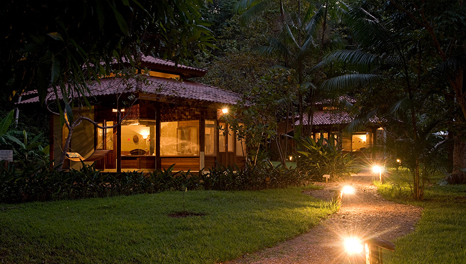 Foto do bangalô no Cristalino Lodge. Foto: Luis Gomes