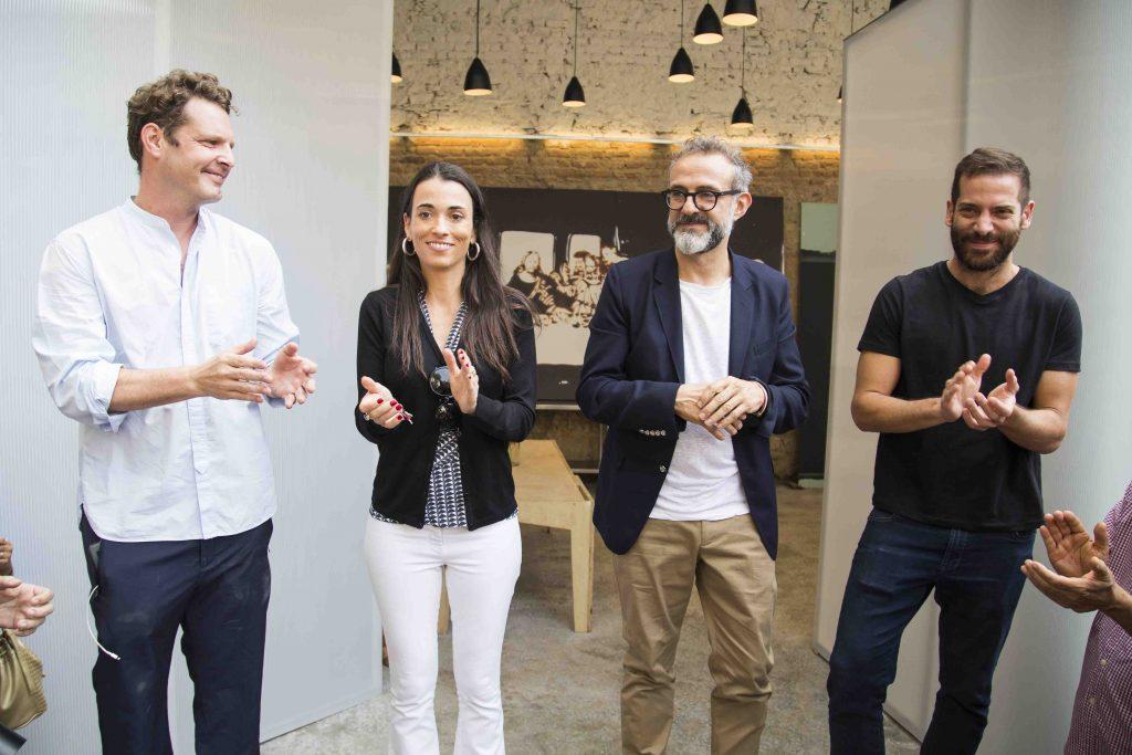 David Hertz, Alexandra Forbes, Massimo Bottura e Gustavo Cedroni. Foto: Tomás Rangel