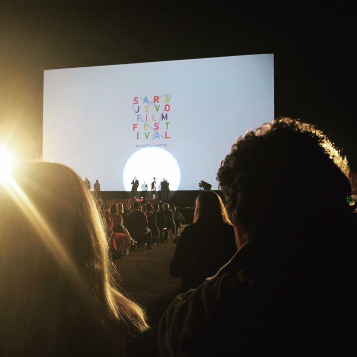 Open Air Cinema no Sarajevo Film Festival, onde estive em 2016