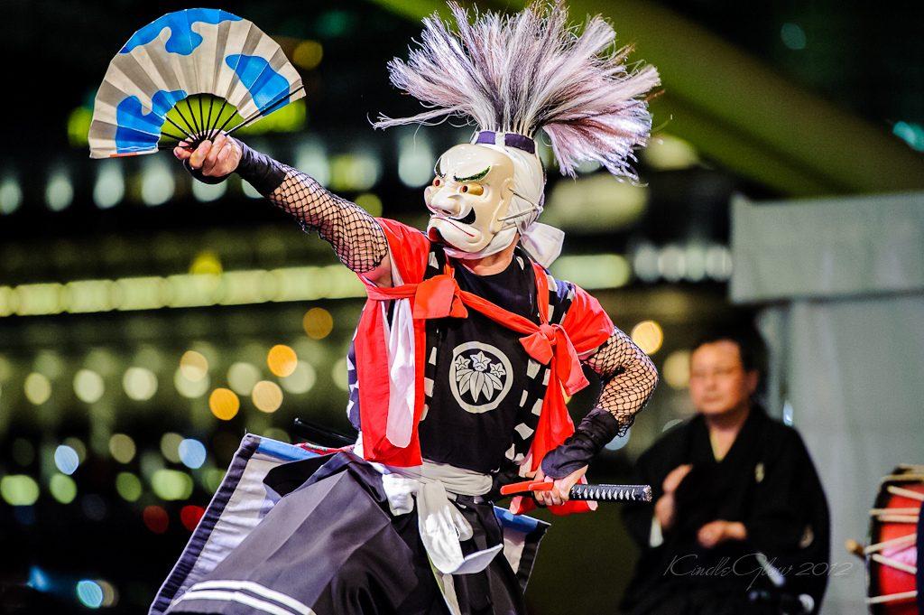 Onikenbai – Tradicional dança com mascaras japonesa. A apresentação acontecerá dia 18 de agosto no palco Rio Live Stage.