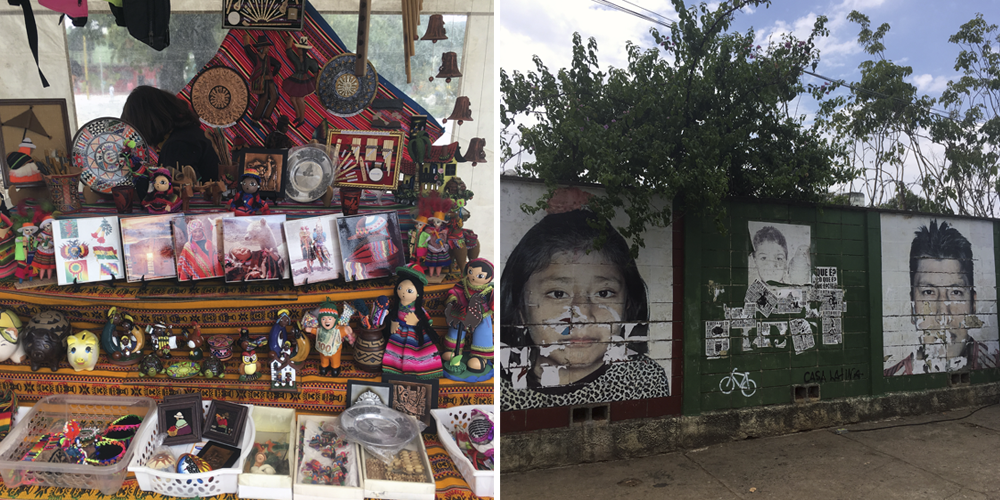 Produtos e arte urbana da Feira Kantuta. Foto: Iran Giusti