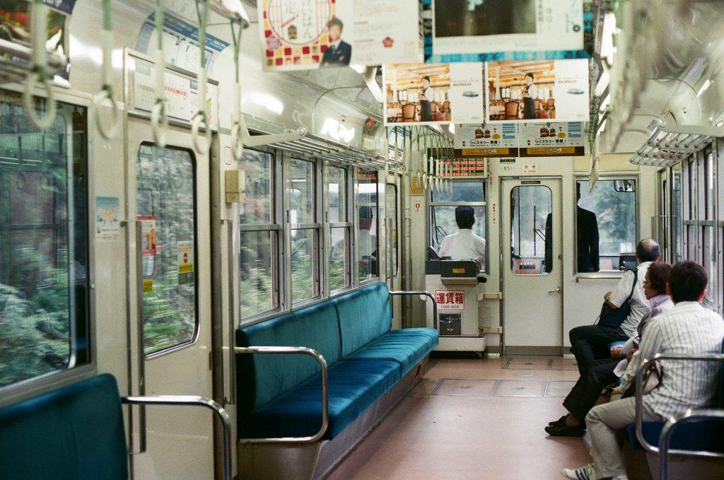 Por dentro do ônibus em Kyoto. Foto: Toomore Chiang