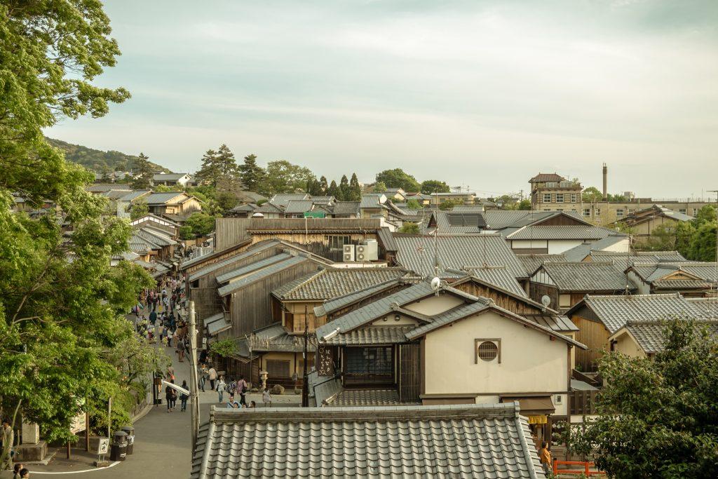 Casas históricas em Kyoto. Foto: Alexander Synaptic
