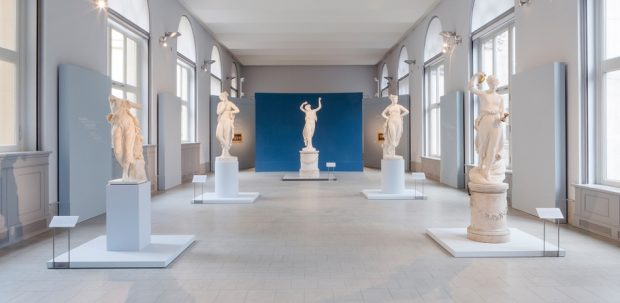 Canova und der Tanz, Ausstellungsansicht, Bode-Museum, 2016 © Staatliche Museen zu Berlin, Skulpturensammlung / David von Becker. http://www.smb.museum/en/museums-institutions/bode-museum/exhibitions/detail/canova-und-der-tanz.html