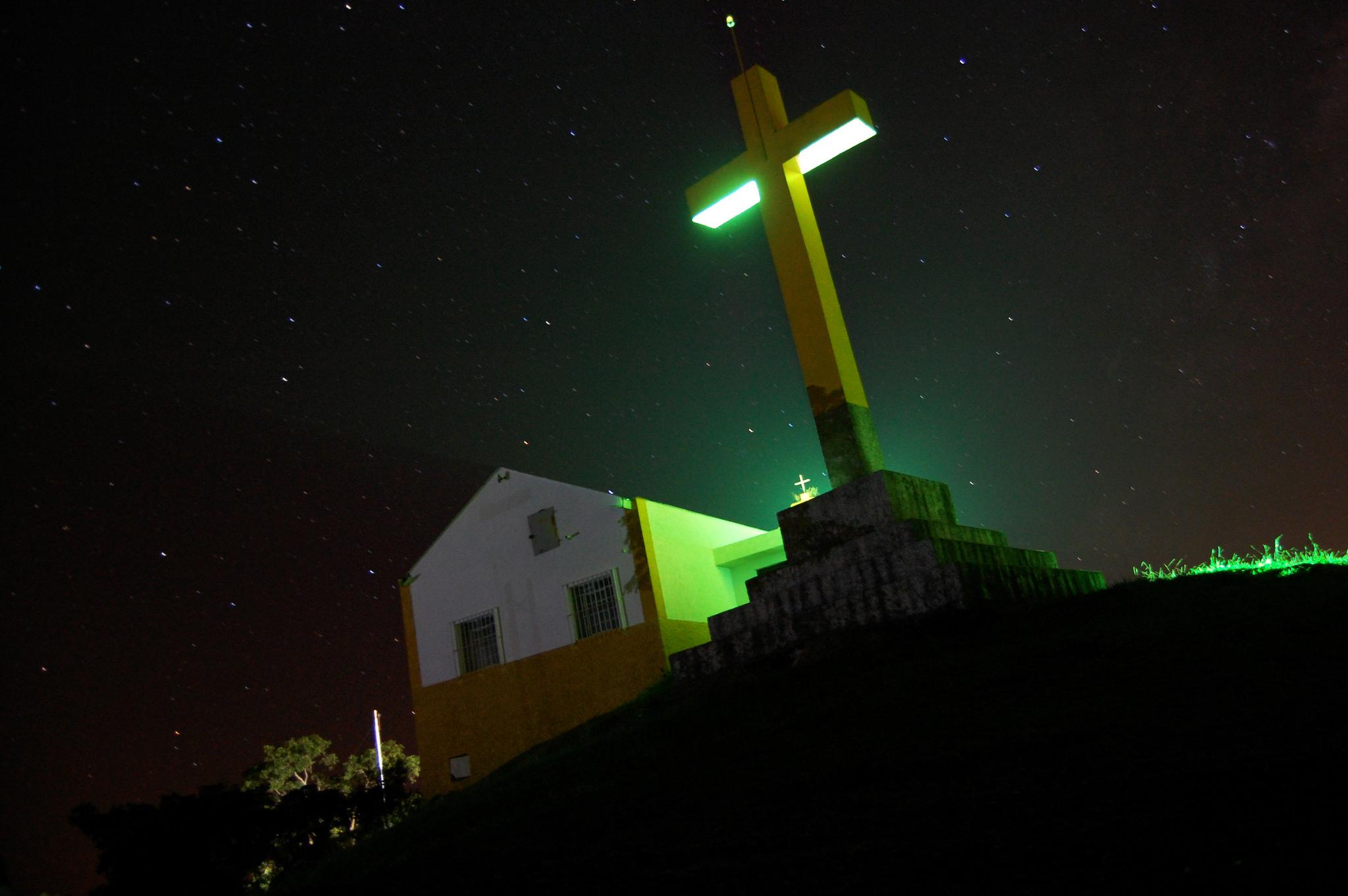O Santuário de Pedra Bela à noite – foto: Diogo Rodrigues Gonçalves