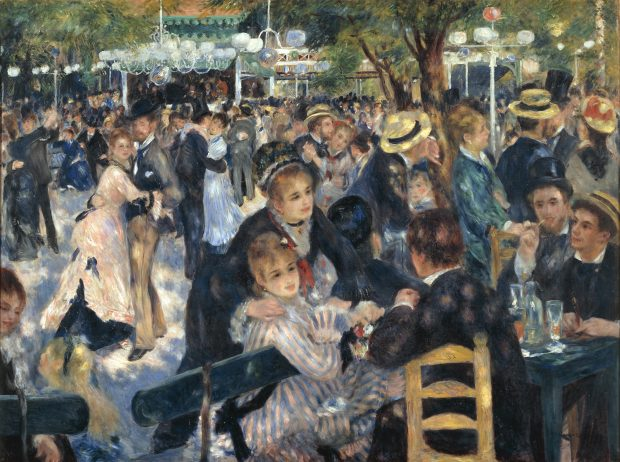 Pierre-Auguste Renoir, Le Moulin de la Galette, 1875. Wikipedia.