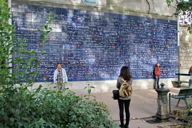Le Mur des Je t´Aime, 2013. Foto: Peter Rowley. Flickr.