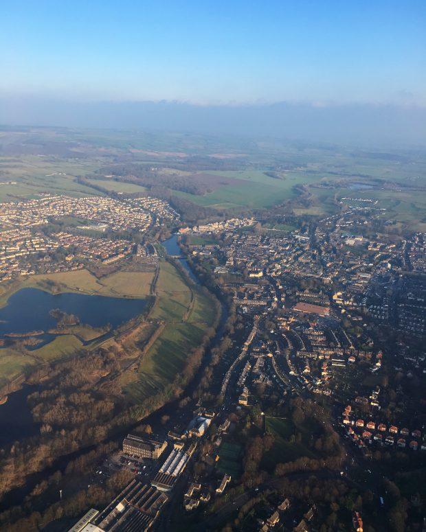 Vista de Belfast desde o avião - Foto: Fernanda Secco