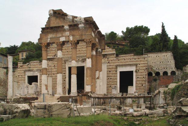 Capitólio e o Foro Romano, Bréscia, Wikipedia.