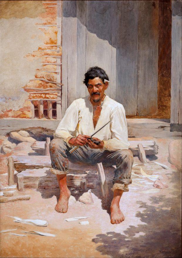 O picador de fumo, Almeida Júnior, 1893. Fotografia: isterik32
