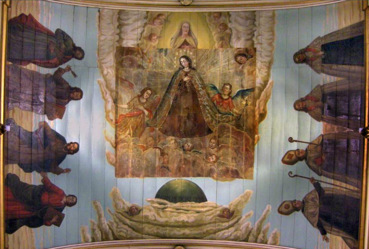Teto da Igreja Nossa Senhora do Carmo, Padre Jesuíno do Monte Carmelo, 1820. Wikipedia.