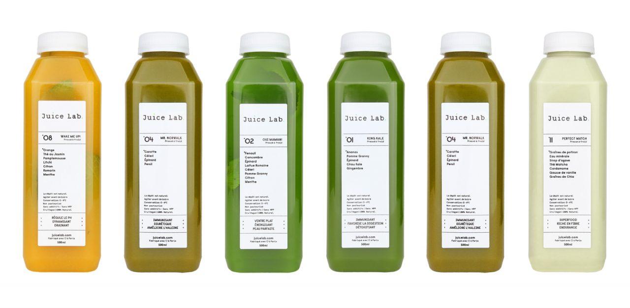 Os sucos-refeição do Juice Lab, Paris