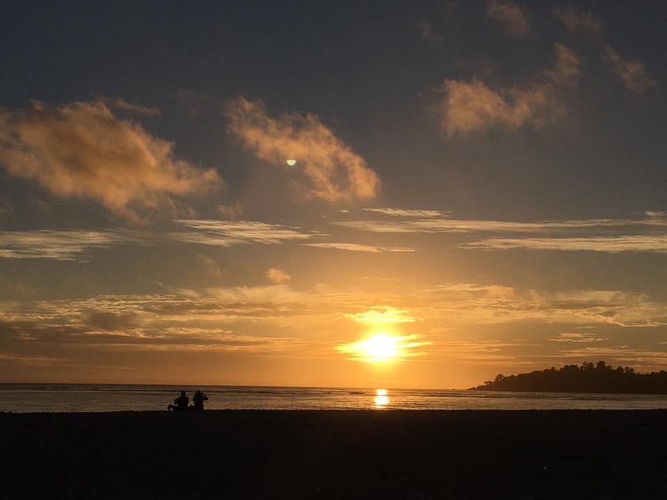 Pôr-do-sol em Carmel Beach - Foto por Fernanda Secco