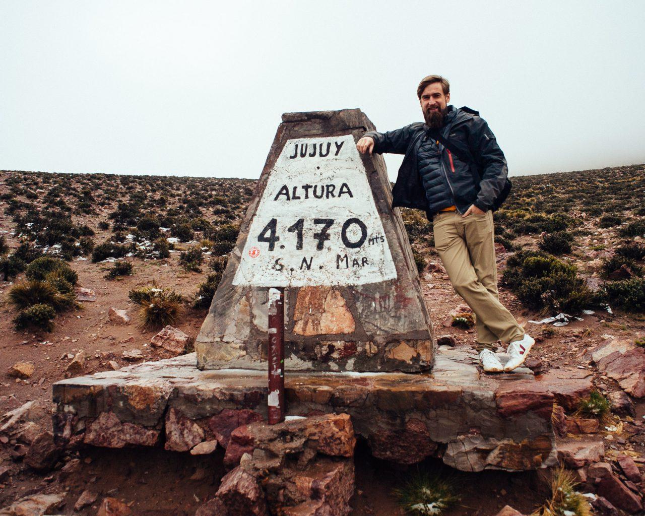 Marcação de altura, 4170 metros acima do nível do mar