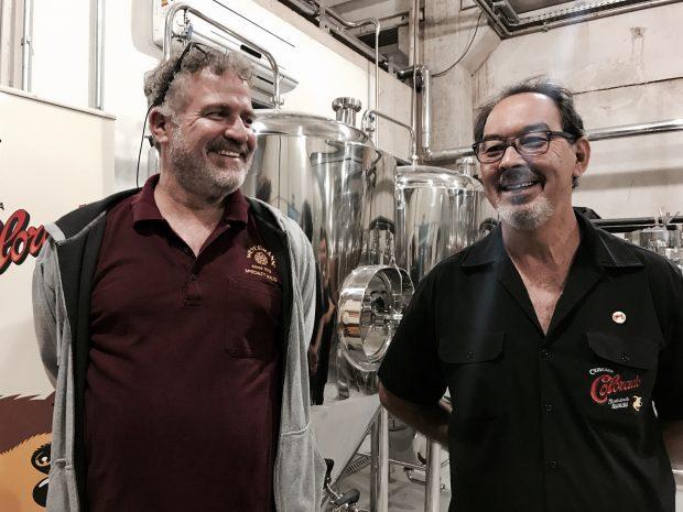 Marcelo Carneiro e Laercio Shiya, os responsáveis por tudo que acontece na Cervejaria Colorado