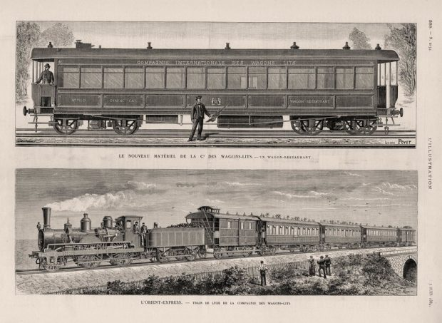 O primeiro Orient Express na revista L'Illustration, 1884 - Foto: Arjan den Boer