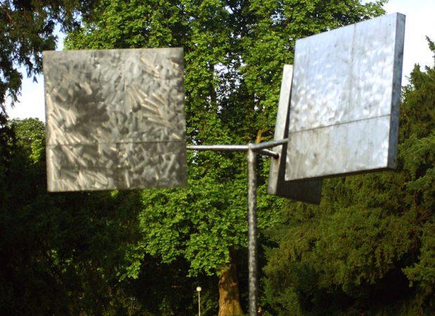 A escultura de George Rickey, que fez o Skulptur Projekte acontecer. - foto:  Rüdiger Wölk
