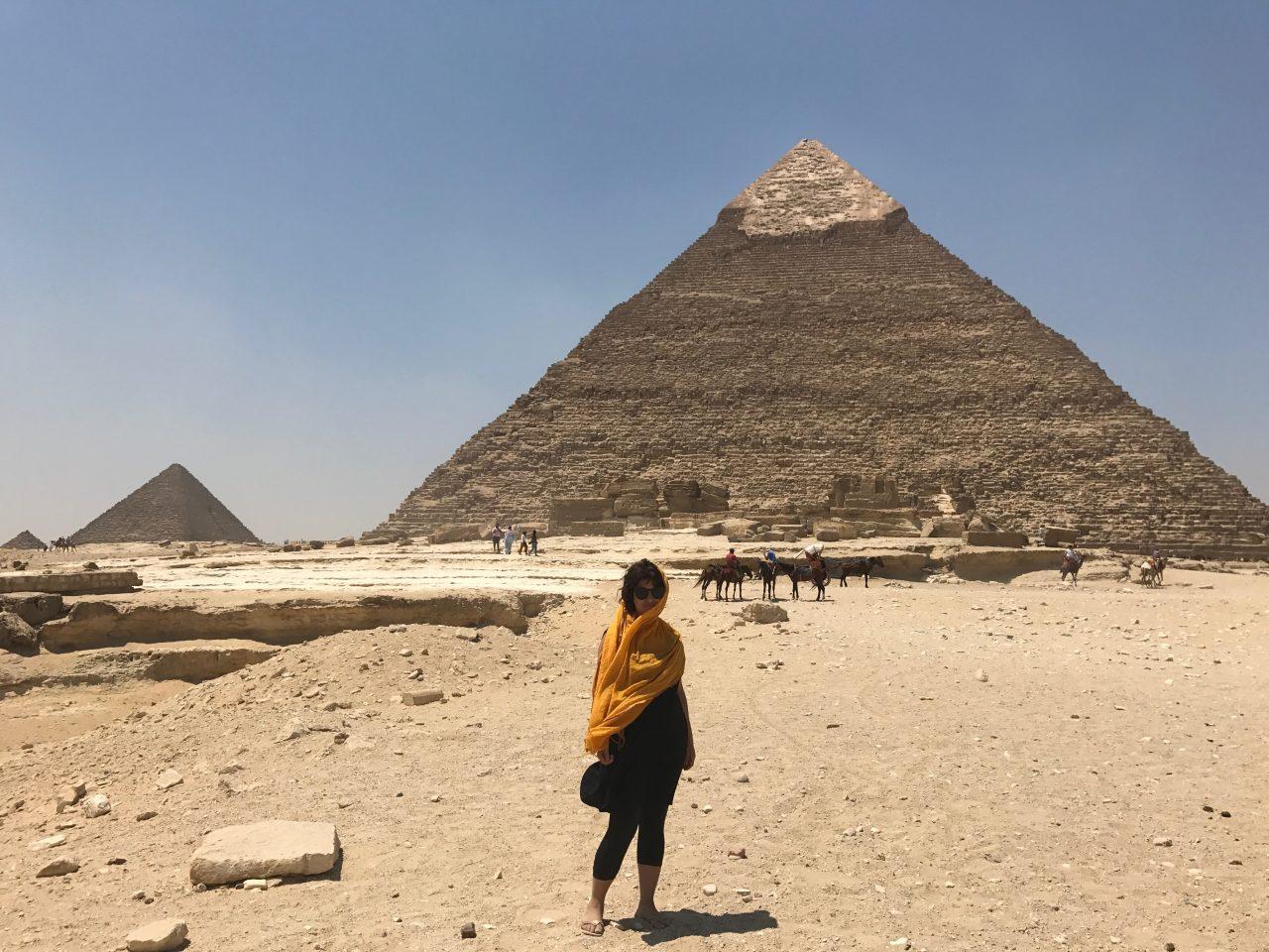 Vanessa pagando de turista. Foto: Guia meia boca que arrumei