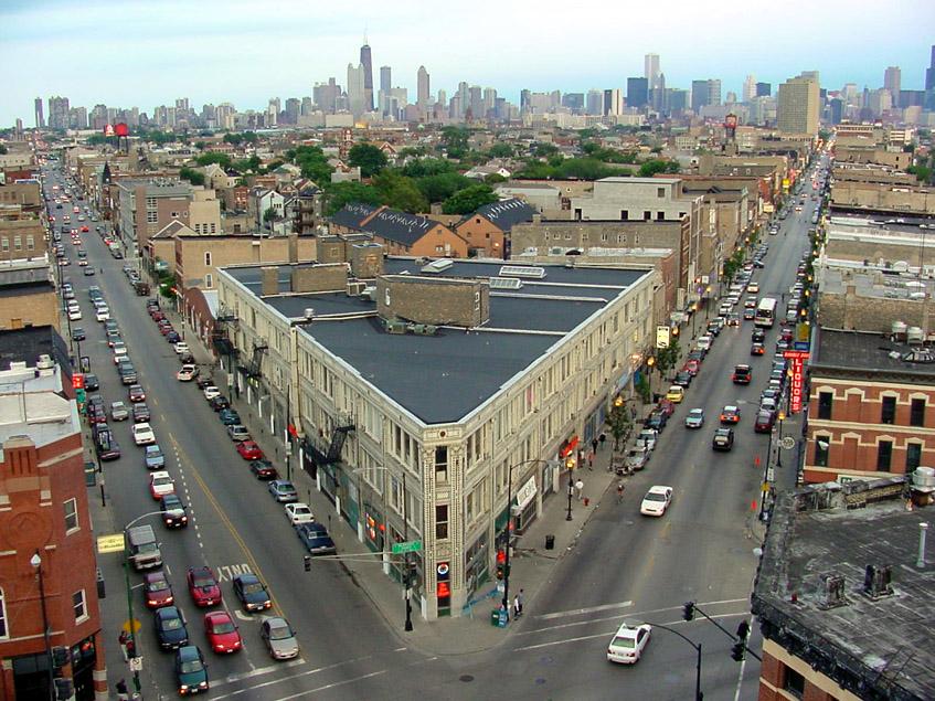 O Flatiron Building é um polo de arte e cultura de Chicago