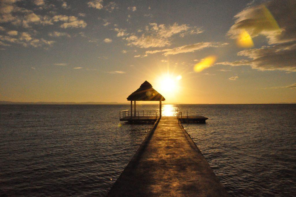 Por-do-sol no Lago Nicaragua. Foto: Eric Molina