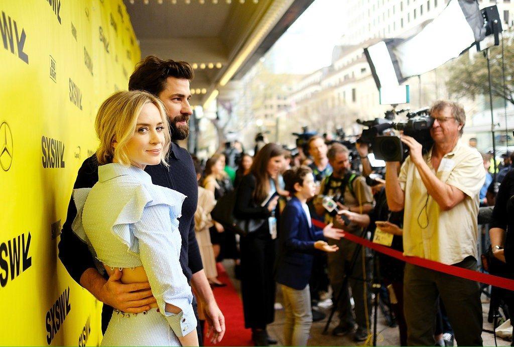 "Emily Blunt e John Krasinski na premiere de ""A Quiet Place"" no Film Festival 2018. Foto: Matt Winkelmeyer/Getty Images"