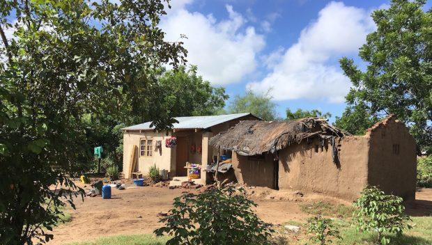 Casa do vilarejo em Malawi.