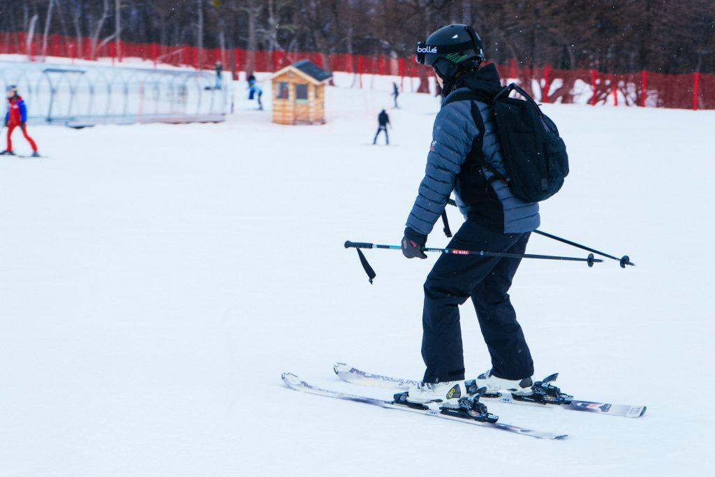 Eu perdendo o medo do esqui em Cerro Castor (na pista das crianças). Foto: Ola Persson
