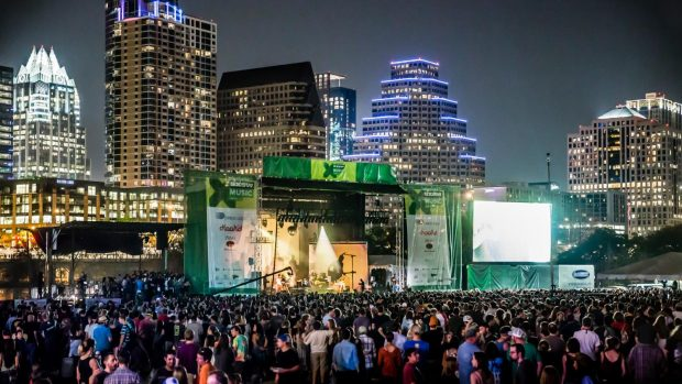 SXSW Outdoor Stage, no Lady Bird Lake. Foto: SXSW