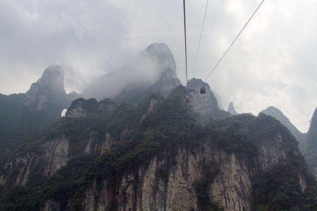 Teleférico de Tianmen. Foto: Bo Lu/Visualhunt