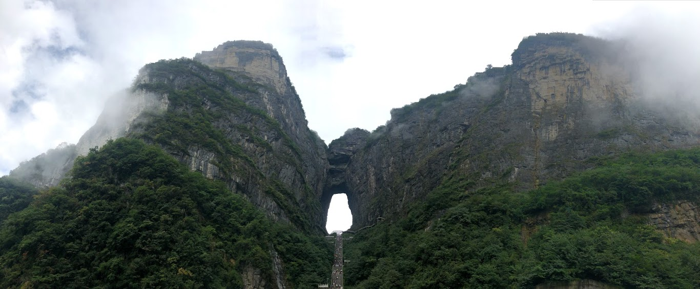 Tianmen Mountain, Porta do Céu. Foto: Maria Claudia Pompeo